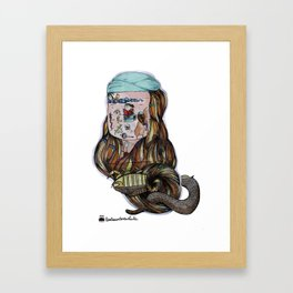 Tahupotiki Koraha and the cobrapion Framed Art Print