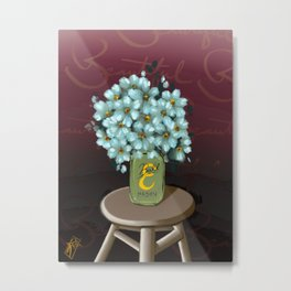 Jar of Flowers E, take two Metal Print
