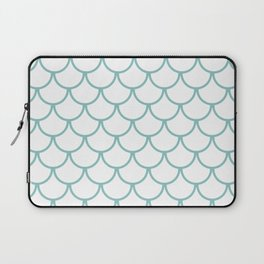 Chalky Blue Fish Scales Pattern Laptop Sleeve