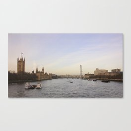 Palace of Westminster/London Eye Canvas Print