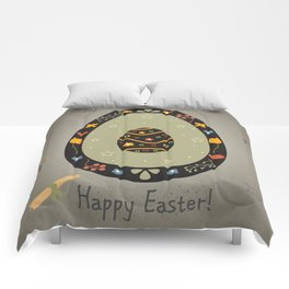 Festive Easter Egg with Cute Egg inside Comforters