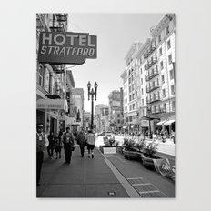 San Francisco - Black and White Canvas Print