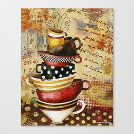 Coffee Cups Divine Canvas Print