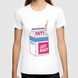 just right milk T-shirt