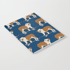 English Bulldog skateboard funny pet portrait cute gift for dog person dog lover bulldog owner gifts Notebook