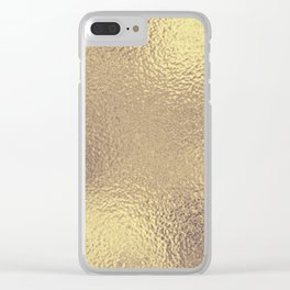 Simply Metallic in Antique Gold Clear iPhone Case