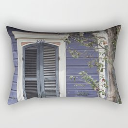 New Orleans Blue Marigny Door Rectangular Pillow