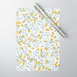 Orange Tree Wrapping Paper