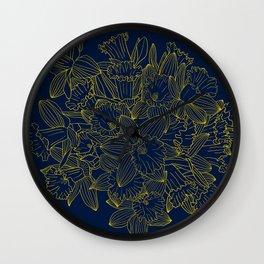 Daffodils by Night Wall Clock