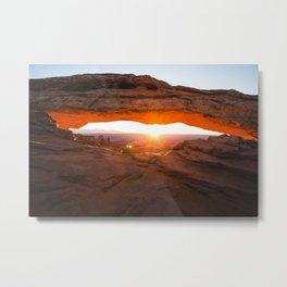 Mesa Arch Sunrise Canyonlands in Moab, Utah Metal Print