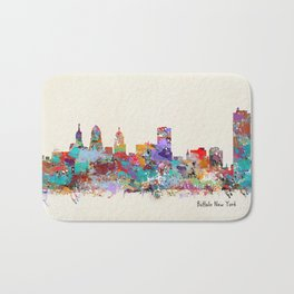 buffalo city new york Bath Mat