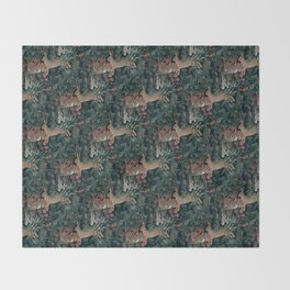 Bunny medieval tapestry Throw Blanket