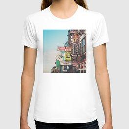 Lower Broadway, Nashville print  T-shirt