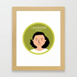 An Inventor like Hedy Lamarr Framed Art Print