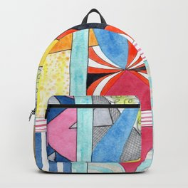 Wonderful Mixture of Geometric and Organic Shapes Backpack