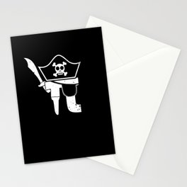 Pi Pirate Mathematic Math Teacher Student Gift Stationery Cards