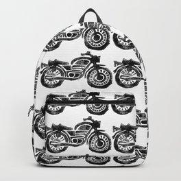 Motorcycle Linocut Block Print Backpack