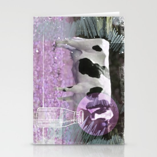 Milk comes from a bottle Stationery Cards