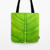 leaf Tote Bags featuring Leaf by Patterns and Textures