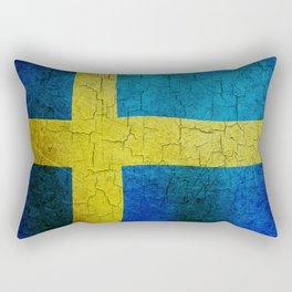 Grunge Sweden flag Rectangular Pillow