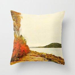 Seargant Drive, MDI, Maine Throw Pillow