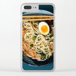 Simple Ramen Clear iPhone Case