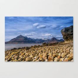 The Cuillin from Elgol, Isle of Skye Canvas Print
