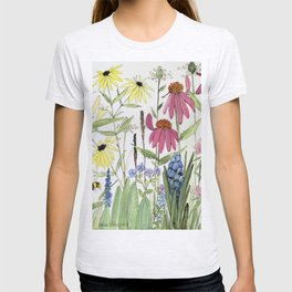 Flowers on White Painting T-shirt