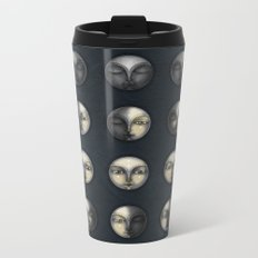 moon phases and textured darkness Metal Travel Mug