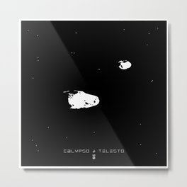 CALYPSO & TELESTO Metal Print