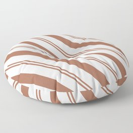 Sherwin Williams Cavern Clay Stripes Thick and Thin Angled Lines Floor Pillow