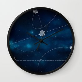 Universe planets-blue Wall Clock