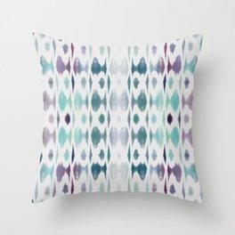 Light As Air Teal Purple Pattern Throw Pillow