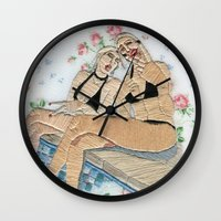pool Wall Clocks featuring Pool by Spider's Paw