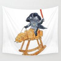 darth vader Wall Tapestries featuring Darth Vader by gunberk