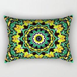 Orange Yellow and Green Kaldeidoscope 2 Rectangular Pillow