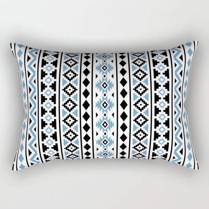 Aztec Essence Pattern II Light Blue Black White Rectangular Pillow