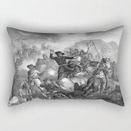 General Custer's Death Struggle Rectangular Pillow