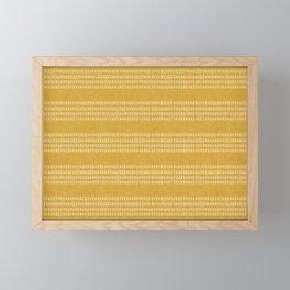 farmhouse stitch - gold Framed Mini Art Print