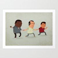 gta Art Prints featuring GTA Friends by Jimmy Rogers
