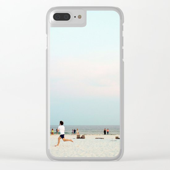 Running Beach Clear iPhone Case