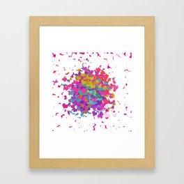 Heart leaf colorful Framed Art Print