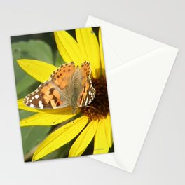 Painted Lady Butterfly Picks Pollen Stationery Cards