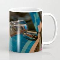 mini cooper Mugs featuring Striped Mini Cooper by kendellvictoria