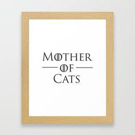 Mother of Cats, Cat Mom, Cat Lover Framed Art Print