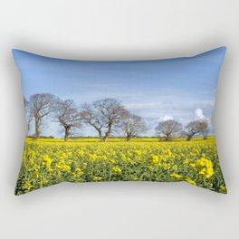 Sunny Delight (Landscape),OSR field in flower Rectangular Pillow