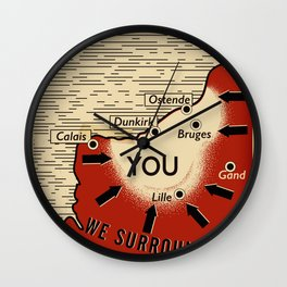 We Surround You Wall Clock