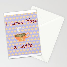 I love You a Latte Stationery Cards