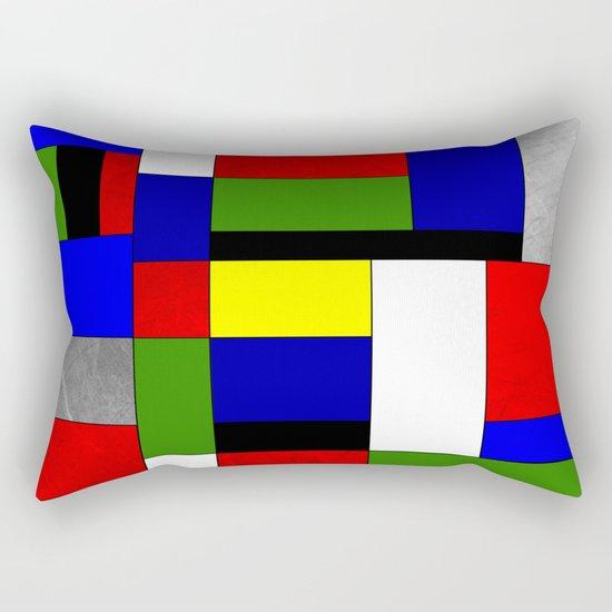Mondrian #4 Rectangular Pillow