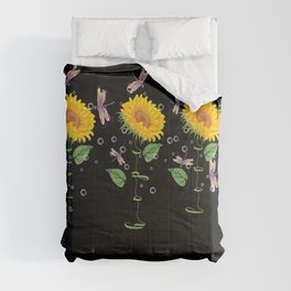 Mississippi Corinth Sunflower hope love Gifts For Men Women Comforters